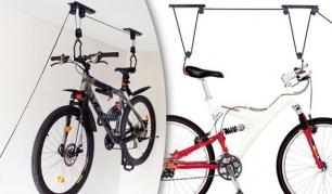 Prie lubų tvirtinamas dviračių laikiklis