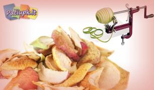 Aukštos kokybės mechaninė obuolių ir bulvių skutimo bei pjaustymo mašinėlė