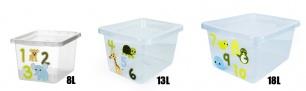 """Plastikinė dėžė """"Basic box animals"""""""