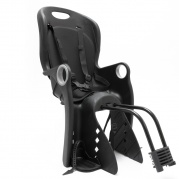 Juodos spalvos vaikiška dviračio kėdutė