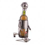 """Metalinis vyno butelio laikiklis """"Footballer by Homania"""""""