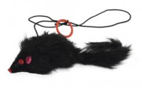 """Žaislas katei """"Pelė"""" (juodas)"""