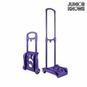 """Sulankstomas kuprinės vežimėlis """"Junior Knows"""", 28 x 84 x 26 cm, Violetinis"""