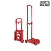 """Sulankstomas kuprinės vežimėlis """"Junior Knows"""", 28 x 84 x 26 cm, Raudonas"""