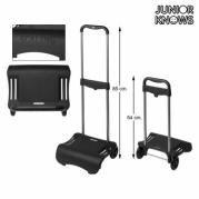 """Sulankstomas kuprinės vežimėlis """"Junior Knows"""", 80 x 28 cm, Juodas"""