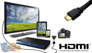 HDMI kabelis - kiekvieno poreikiams