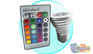 Spalvas keičianti LED lemputė su nuotolinio valdymo pulteliu