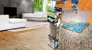 """Ypatingai gerai sugeriantis vandenį, purvą ir kitus nešvarumus durų kilimėlis - """"Clean Step Mat"""""""