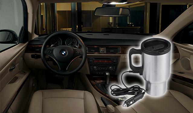 Praktiškas automobilinis termo puodelis su įkrovikliu