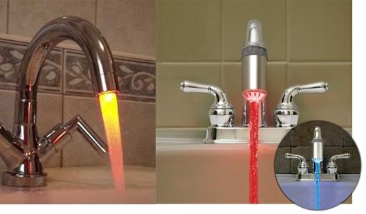 LED antgalis čiaupui, keičiantis spalvą pagal vandens temperatūrą!