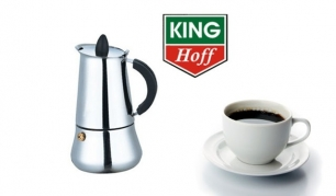 "Nerūdijančio plieno espresso kavos virdulys ""King Hoff"" 450 ml"