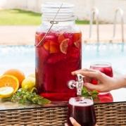 Vintažo stiliaus indas šaltiems gėrimams