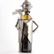 Slidininko formos metalinis butelio laikiklis