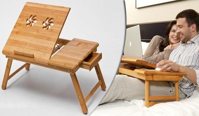 Lovos staliukas iš natūralaus bambuko