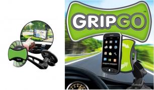 """Saugiems pokalbiams vairuojant! """"GripGo"""" automobilinis telefono arba GPS įrenginio laikiklis"""
