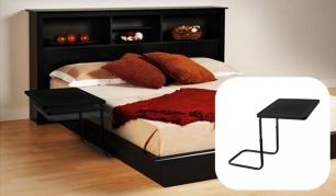 Pusryčiai į lovą! Reguliuojamo aukščio lovos staliukas!