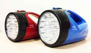 Įkraunamas, ryškus ir galingas 15+24 LED prožektorius