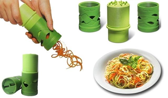 Daržovės, virstančios spagečiais! Daržovių ir vaisių pjaustyklė!