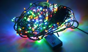38m 500 LED lempučių šventinė girlianda. (Galimi spalvų pasirinkimai)