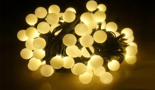 """16m 200 LED lempučių šventinė girlianda """"Maži burbulai"""". (Galimi spalvų pasirinkimai)"""