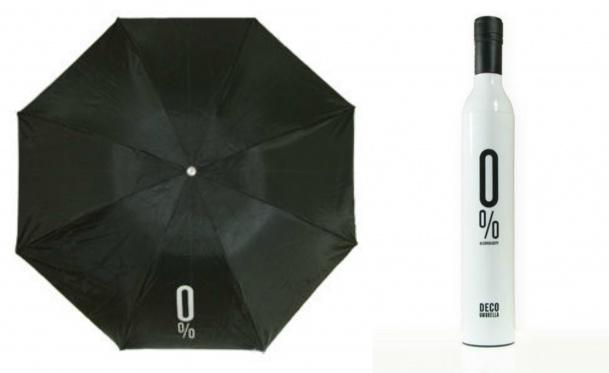 Išskirtinio dizaino skėtis butelyje