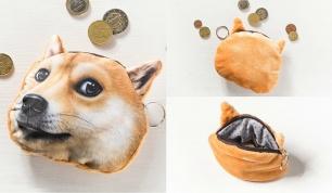 3D piniginė monetoms su šuns atvaizdu