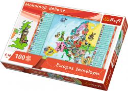 """Mokomoji dėlionė-žaidimas """"Europos žemėlapis"""" 100 detalių"""