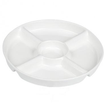 Porcelianinė užkandžių lėkštė