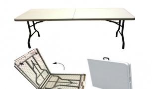 Kompaktiškas ir praktiškas sulankstomas stalas