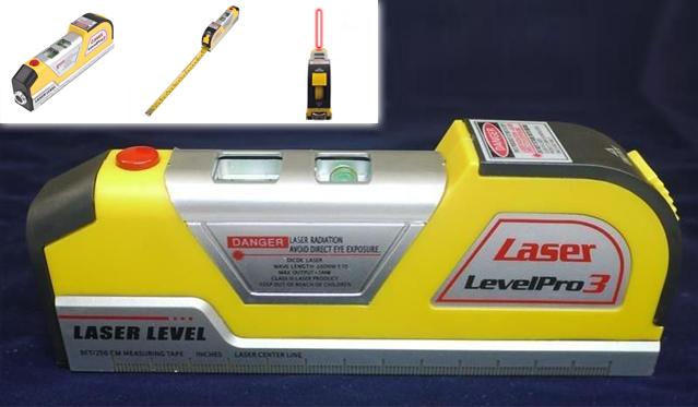 """Daugiafunkcinis prietaisas - gulsčiukas """"Lazer Level PRO 3""""!"""