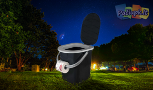 """Patogus nešiojamasis mini tualetas su dangčiu """"Branq"""", 22 l"""
