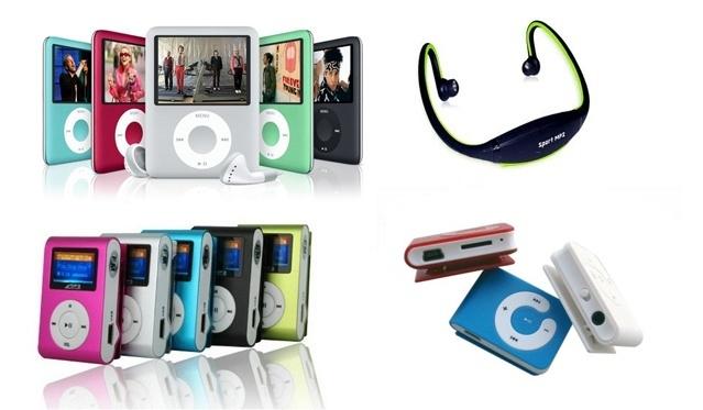 Stilingi, ryškūs MP3, MP4 arba sportiniai MP3 grotuvai