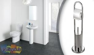 WC šepečio ir tualetinio popieriaus laikiklis