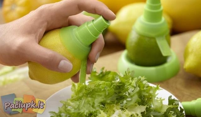 Citrusinių vaisių sulčių purkštukas