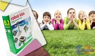 """Konstruktorius """"Robot Kits"""" su saulės baterija, puiki vaikų lavinimo priemonė"""