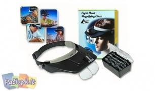 """""""Light Head"""" didinamieji akiniai su 3D lęšiais ir apšvietimu"""