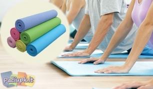 Laikas mankštai! Jogos ir aerobikos kilimėlis