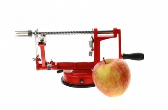 Mechaninė obuolių ir bulvių skutimo bei pjaustymo mašinėlė