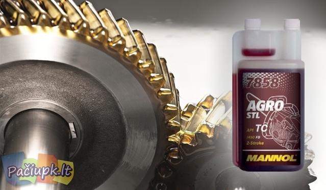 Efektyvi dvitakčių variklių alyva MANNOL 7858 AGRO FOR STIHL