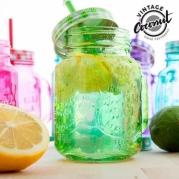 Spalvotas vintažinis stiklainis (galimi spalvų pasirinkimai)