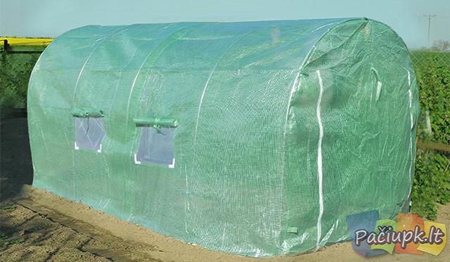 Lengvai sumontuojamas funkcionalaus dizaino šiltnamis 600x300 cm