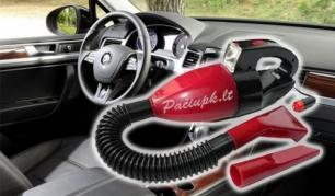 Kompaktiškas siurbliukas automobiliui 12V, kad palaikyti švarą būtų dar lengviau!