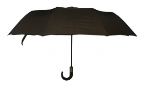 Vidutinio dydžio kokybiškas R&B juodos spalvos skėtis