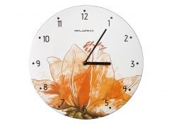 """Sieninis laikrodis """"Floris"""" su oranžine gėle"""