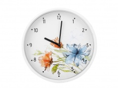 """Sieninis laikrodis """"Floris"""" su spalvotomis gėlėmis"""