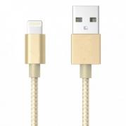 Auksinis lankstus USB laidas skirtas iPhone 5, 5S, SE, 6, 7, iPad