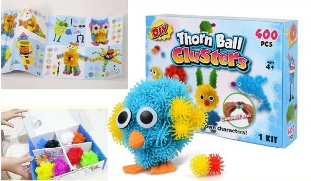 Tarpusavyje limpantys kamuoliukai - vaikų kūrybiškumui lavinti (600 dalių)