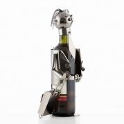 """Metalinis vyno butelio laikiklis """"Businessman by Homania"""""""