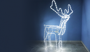 LED šviečiantis Kalėdinis elnias (mažas)