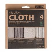 """Mikropluošto šluosčių rinkinys """"Smart Microfiber Cloth"""", 4 vnt."""